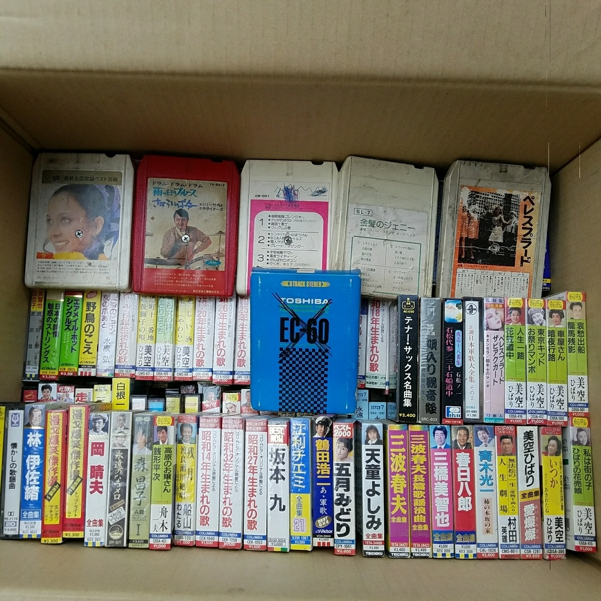 【大量】 240本 お買い得 カセットテープ まとめて まとめ まとめ売り 主に 演歌 美空ひばり _画像3