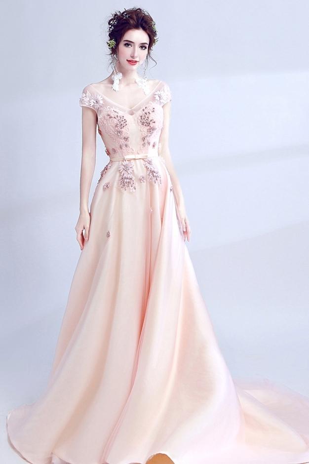 f4b3e5f7c1927 素敵なウエディングドレス カラードレス ピンク 編み上げ 結婚式 二次会 お色直し 演奏会 ステージ TS1512a
