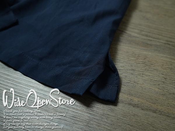 【新品】 オープンカラーシャツ 無地 レーヨン ■ XLサイズ / ネイビー 紺 ■開襟 ソリッドカラー 無地アロハシャツ インスタグラム 流行_画像8