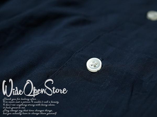【新品】 オープンカラーシャツ 無地 レーヨン ■ XLサイズ / ネイビー 紺 ■開襟 ソリッドカラー 無地アロハシャツ インスタグラム 流行_画像6
