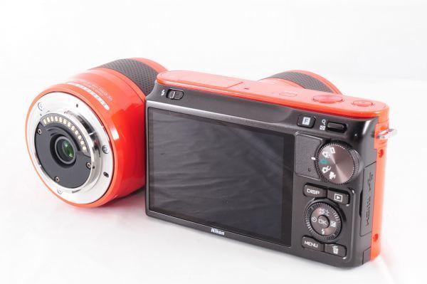 新同品■ニコン【 Nikon 1 J2 】可愛いオレンジ■ダブルズームキット■最高コンディション■付属品完備 カメラ・レンズ 保証書付 #162_画像4