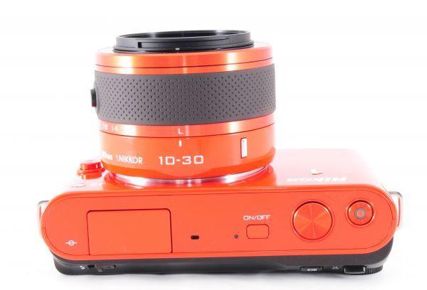 新同品■ニコン【 Nikon 1 J2 】可愛いオレンジ■ダブルズームキット■最高コンディション■付属品完備 カメラ・レンズ 保証書付 #162_画像5