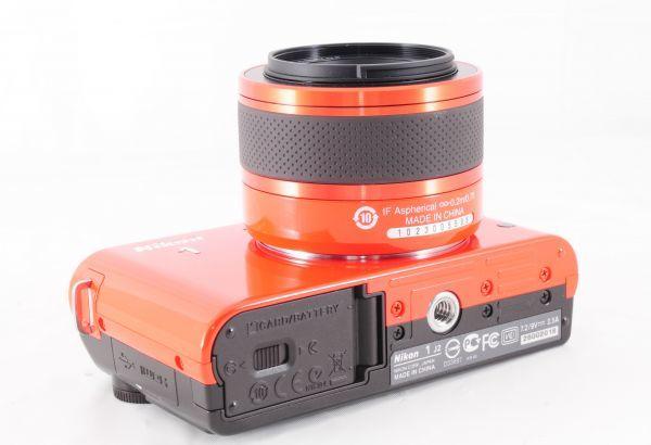 新同品■ニコン【 Nikon 1 J2 】可愛いオレンジ■ダブルズームキット■最高コンディション■付属品完備 カメラ・レンズ 保証書付 #162_画像6