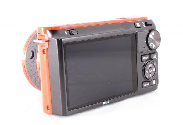 新同品■ニコン【 Nikon 1 J2 】可愛いオレンジ■ダブルズームキット■最高コンディション■付属品完備 カメラ・レンズ 保証書付 #162_画像7