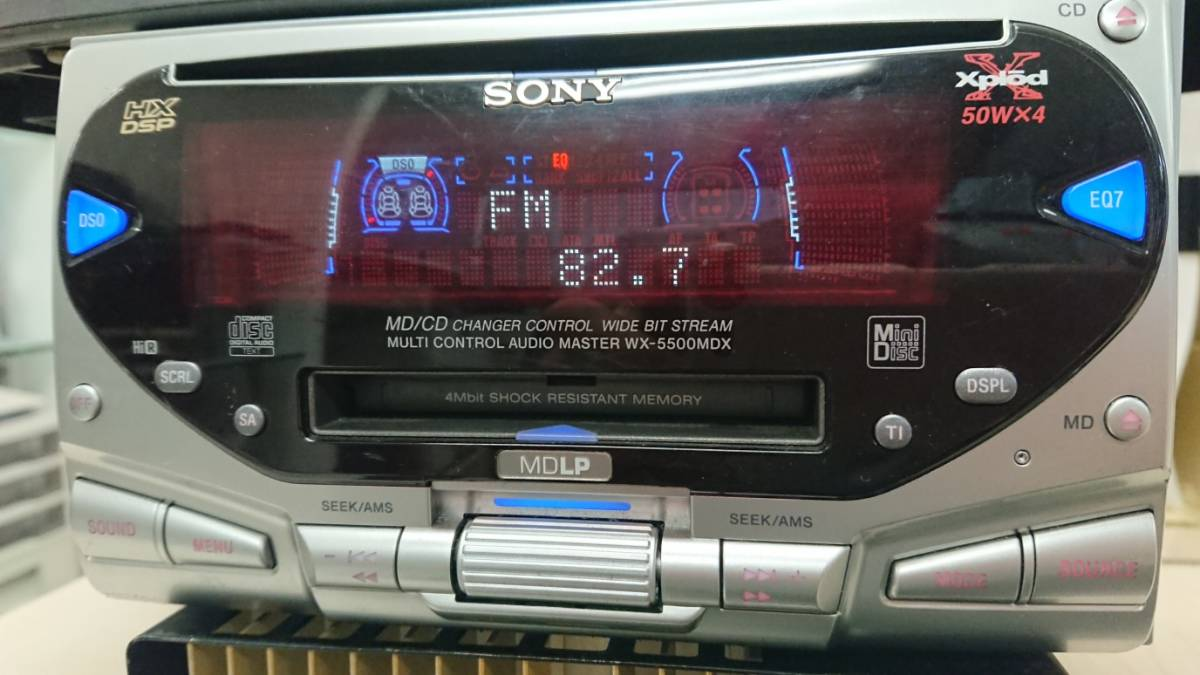 SONY Xplod WX-5500MDX MD/CD tuner Junk : Real Yahoo auction ... on