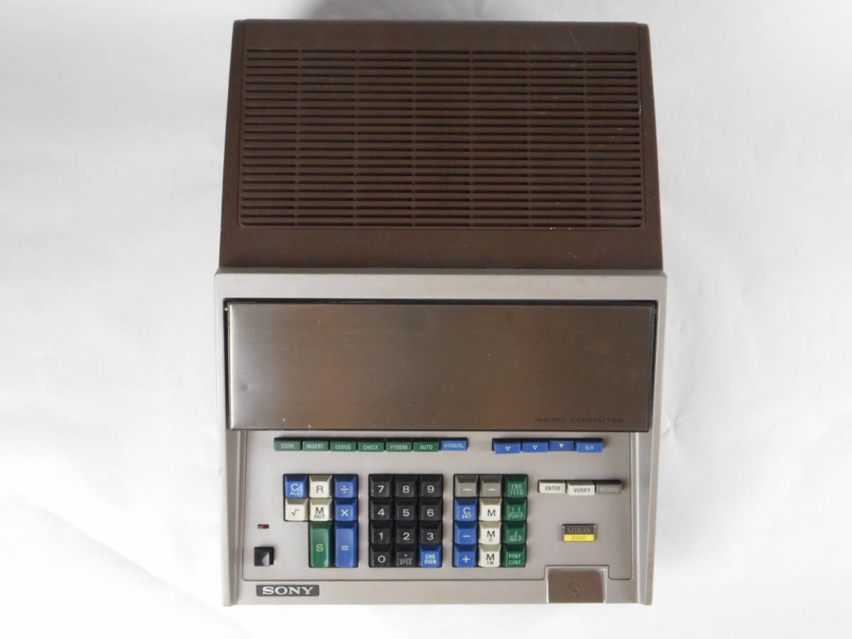 SONY SOBAX ICC-2700 MICRO COMPUTER ソニー マイクロコンピューター_画像2