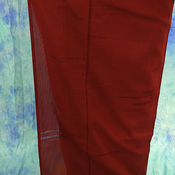 (117)絽 夏の着物 夏用 夏 正絹 SILK  中古 pre-owned 色無地 Japanese Kimono for Summer 151cm 59inch_画像4