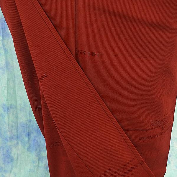 (117)絽 夏の着物 夏用 夏 正絹 SILK  中古 pre-owned 色無地 Japanese Kimono for Summer 151cm 59inch_画像5