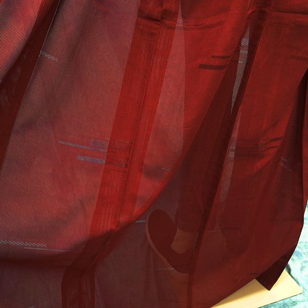 (117)絽 夏の着物 夏用 夏 正絹 SILK  中古 pre-owned 色無地 Japanese Kimono for Summer 151cm 59inch_画像9