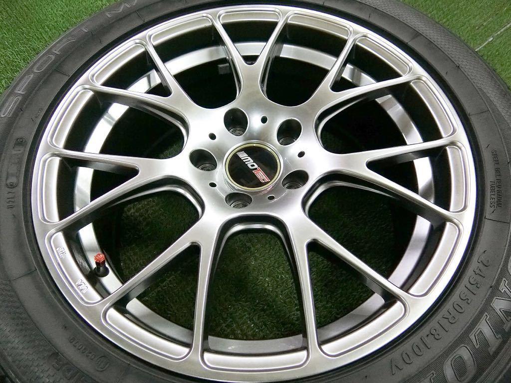 美品!DL SP SPORT MAXX 245/50R18・MOTEC軽量アルミ 4本 №T180719-4 BMW 5シリーズ・7シリーズ・/夏タイヤ・モーテック_画像8