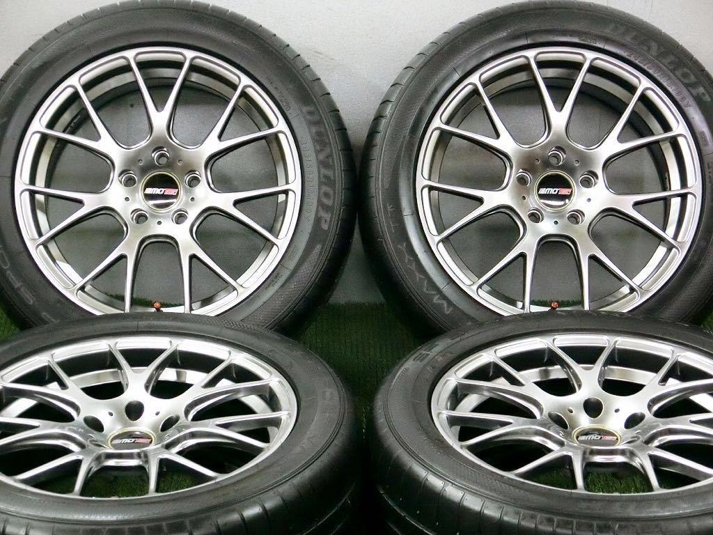 美品!DL SP SPORT MAXX 245/50R18・MOTEC軽量アルミ 4本 №T180719-4 BMW 5シリーズ・7シリーズ・/夏タイヤ・モーテック