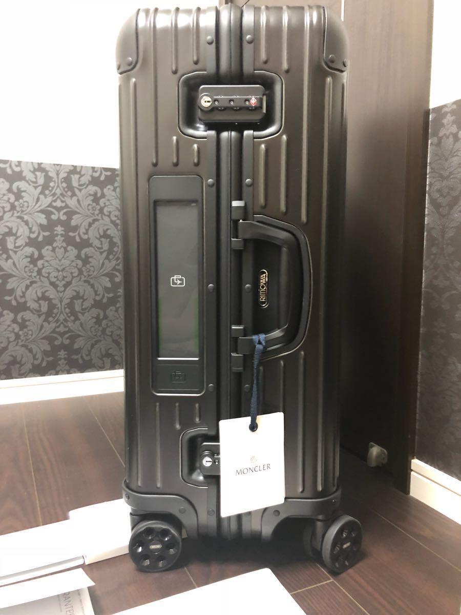 新品 確実本物 確実正規品 1円~ モンクレール リモワ キャリーケース スーツケース MONCLER 電子タグ E-Tag アルミニウム 67L 大 _画像4