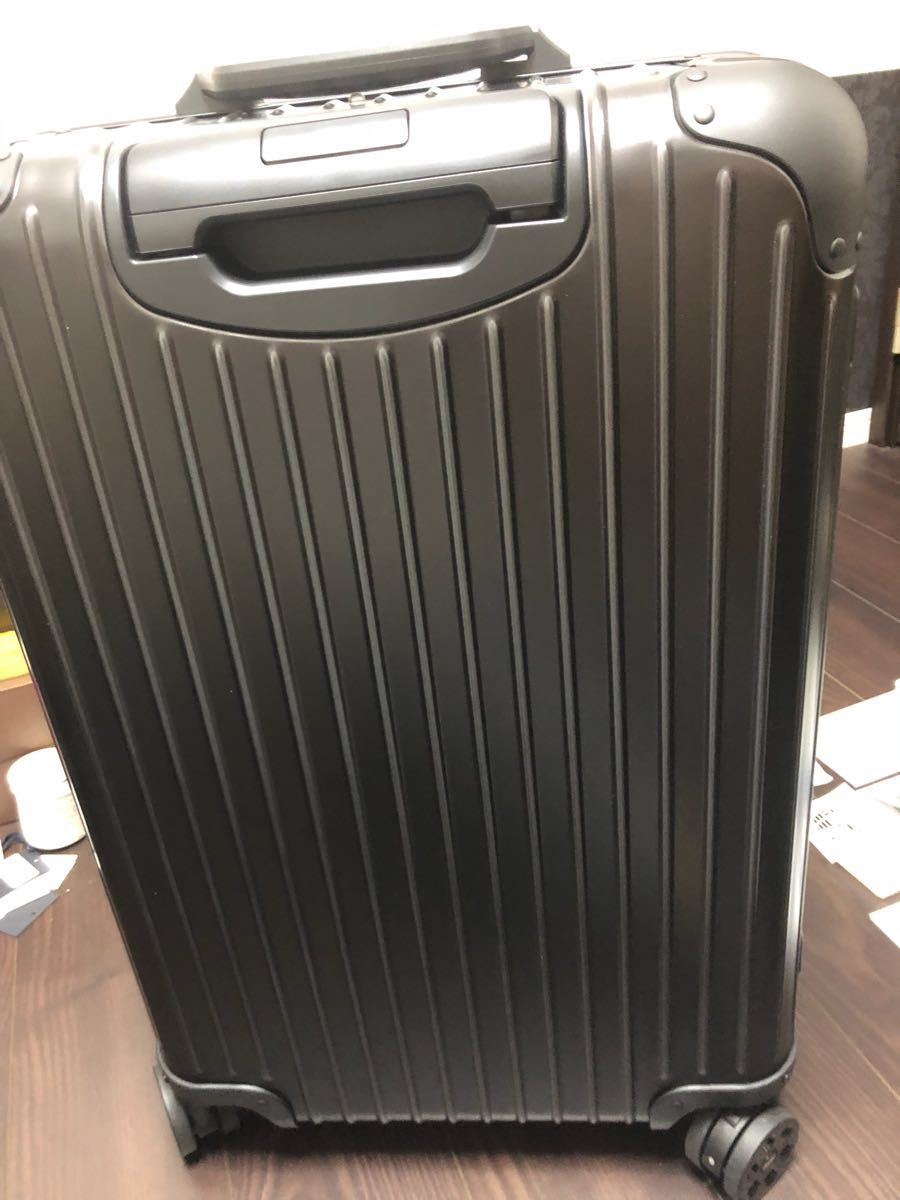 新品 確実本物 確実正規品 1円~ モンクレール リモワ キャリーケース スーツケース MONCLER 電子タグ E-Tag アルミニウム 67L 大 _画像9