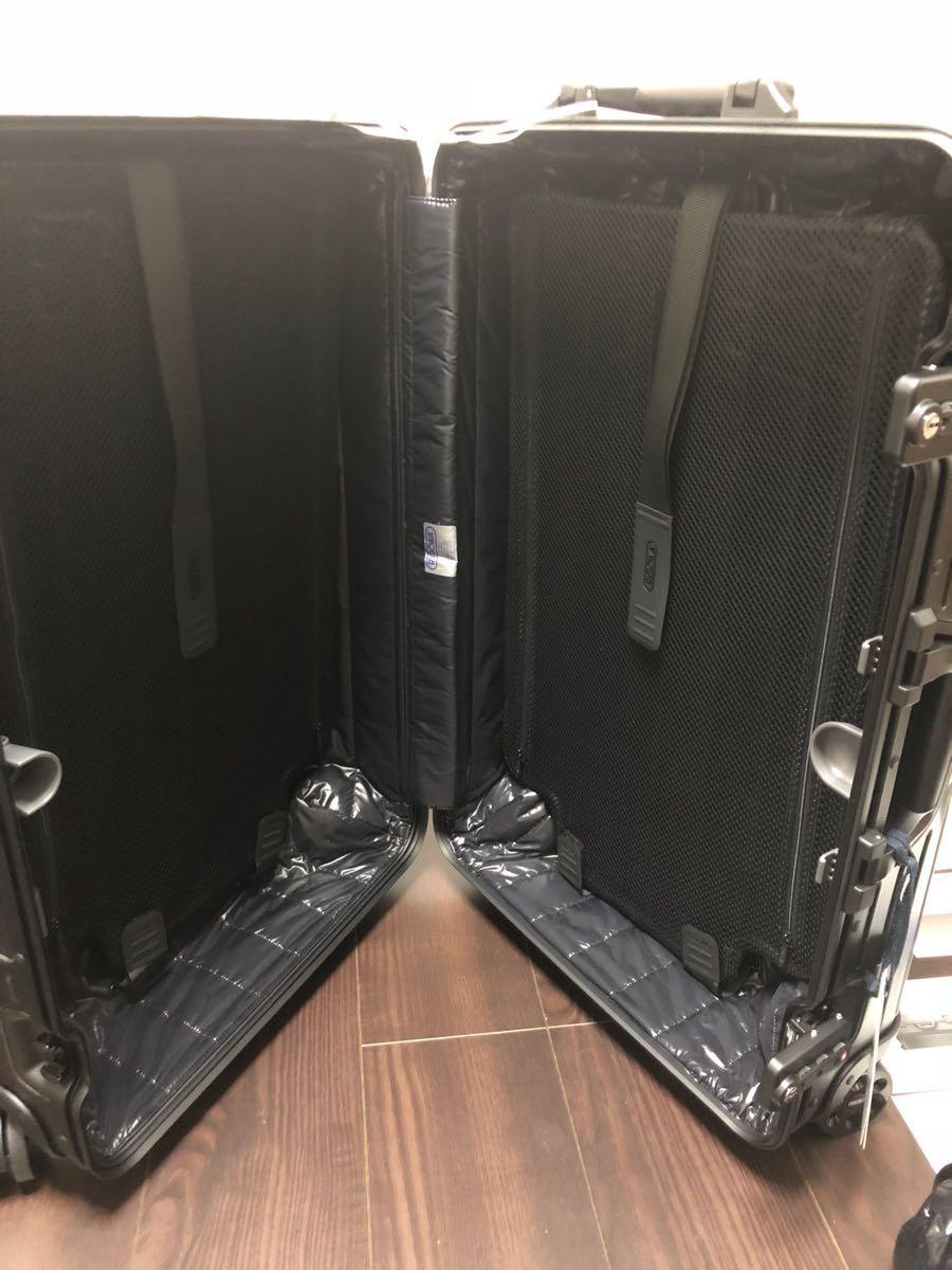 新品 確実本物 確実正規品 1円~ モンクレール リモワ キャリーケース スーツケース MONCLER 電子タグ E-Tag アルミニウム 67L 大 _画像7