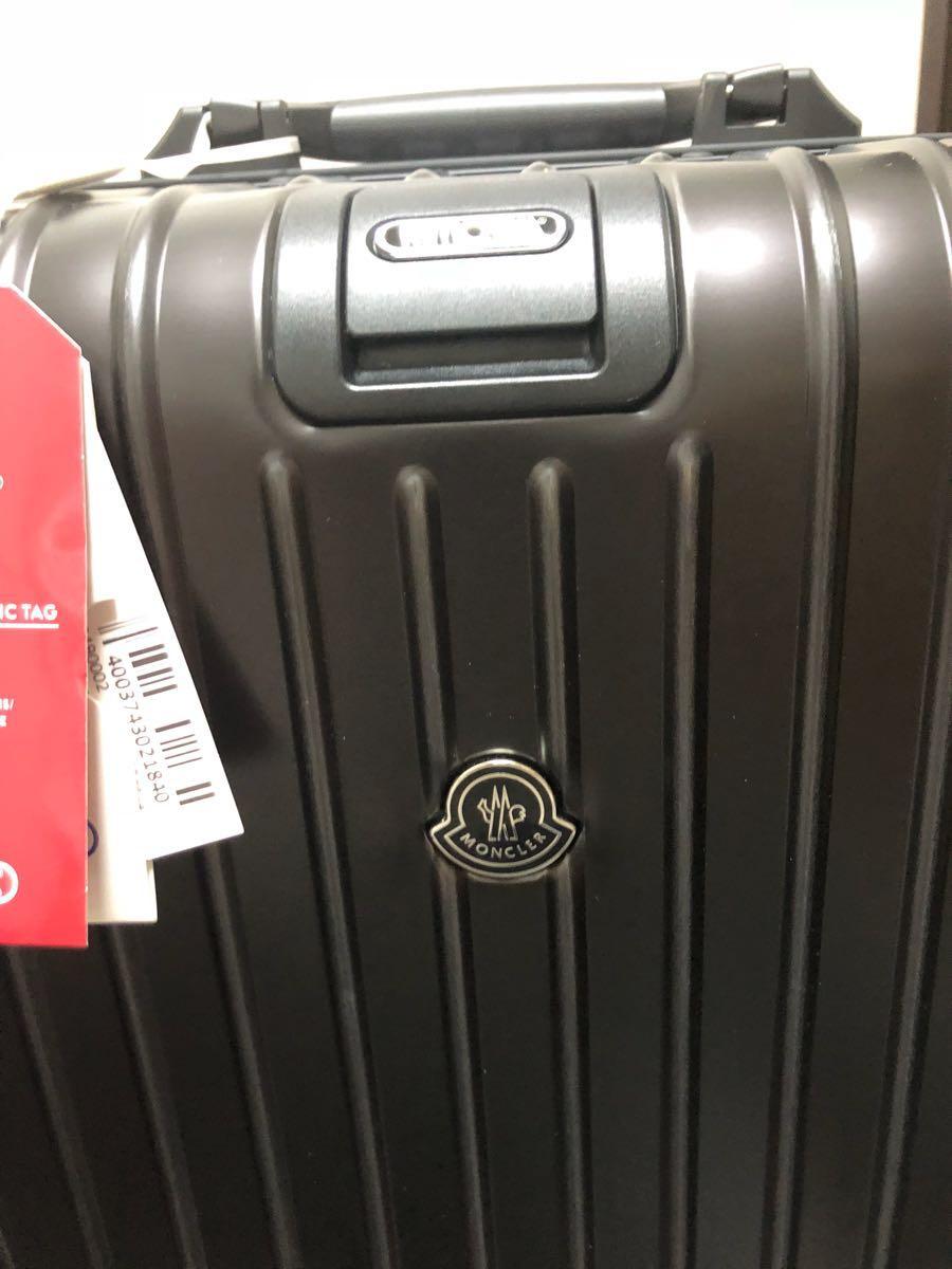 新品 確実本物 確実正規品 1円~ モンクレール リモワ キャリーケース スーツケース MONCLER 電子タグ E-Tag アルミニウム 67L 大 _画像6