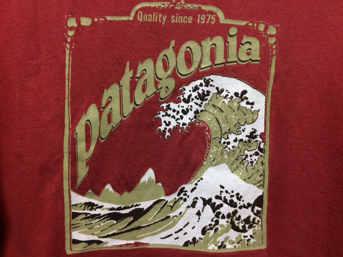 patagonia Tシャツ S 北斎波 ウェーブ 廃番希少品 オールド パタゴニア アメリカ製 surf_画像3