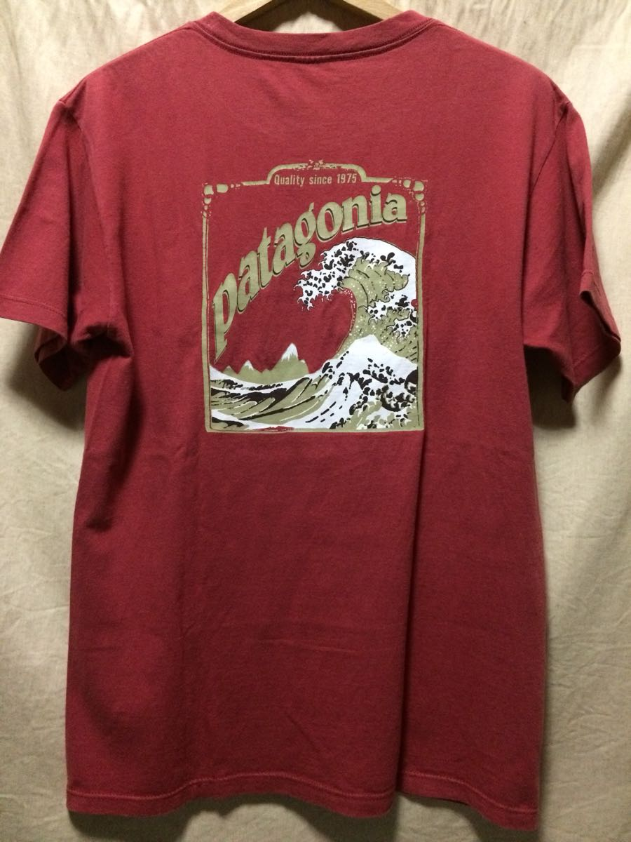 patagonia Tシャツ S 北斎波 ウェーブ 廃番希少品 オールド パタゴニア アメリカ製 surf_画像1