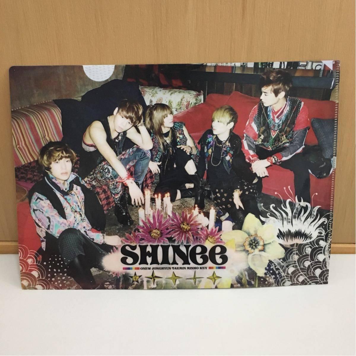 未使用 新品 SHINee Sherlock 日本版 特典 限定 クリアファイル グッズ 2012 アリーナツアー レア ファン_画像1