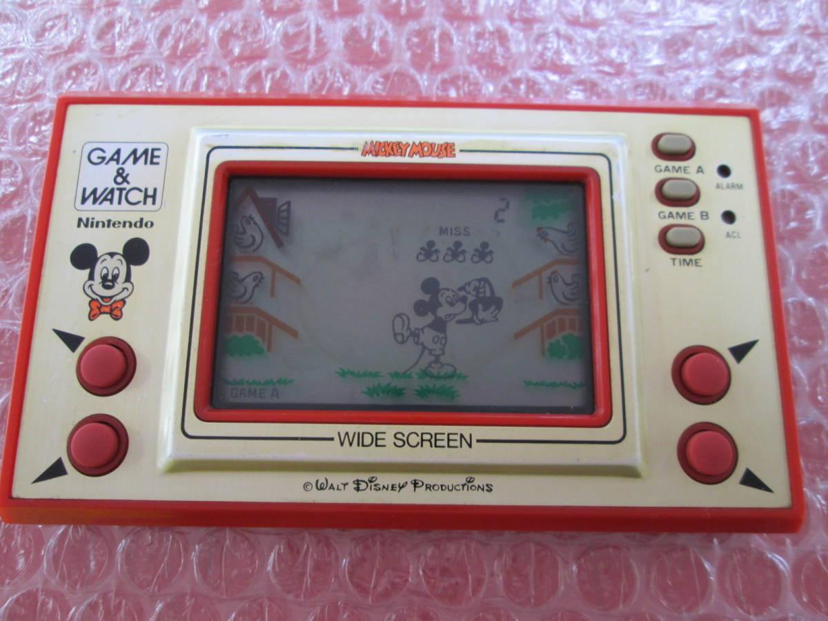 a 任天堂 ニンテンドー NINTENDO ゲームウォッチ ディズニー ミッキーマウス ジャンク扱い