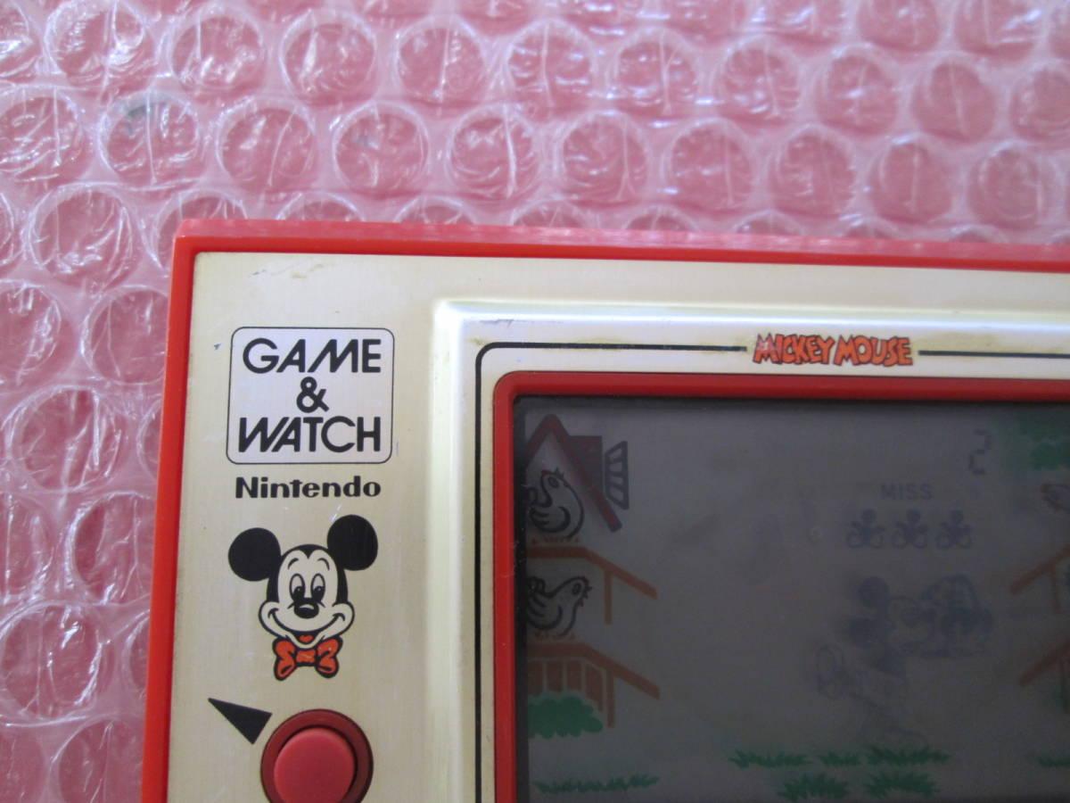 a 任天堂 ニンテンドー NINTENDO ゲームウォッチ ディズニー ミッキーマウス ジャンク扱い _画像2