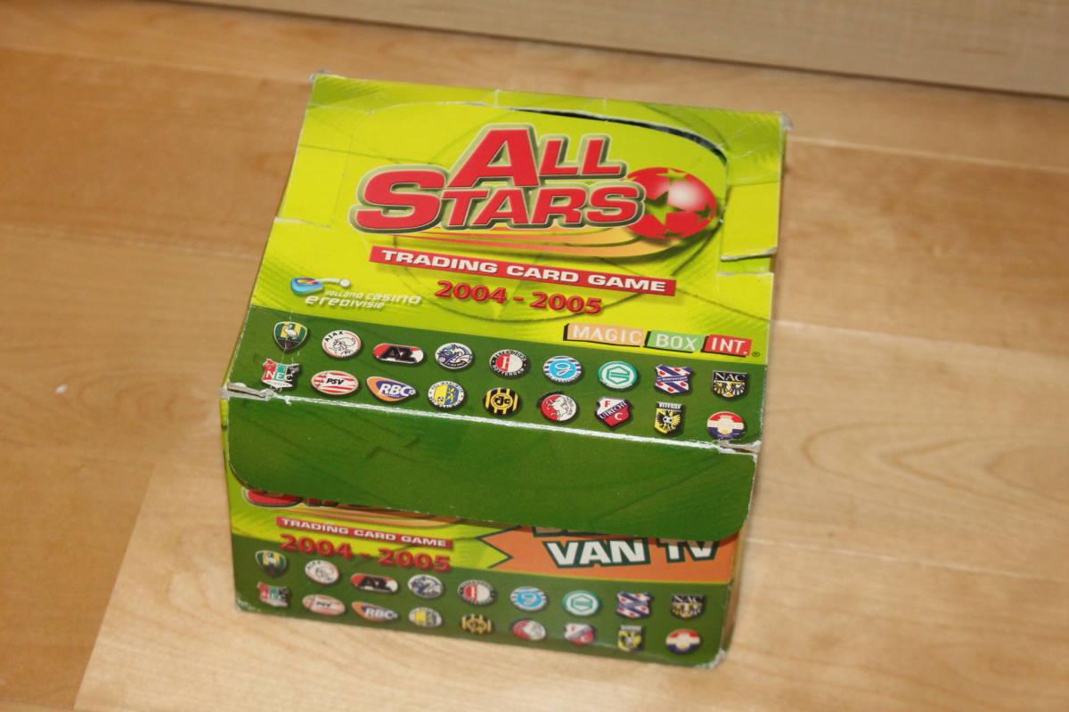 サッカー カード未開封 50枚入り MAGIC BOX INT. ALL STARS TRADING CARD GAME 2004-2005 箱にイタミ有