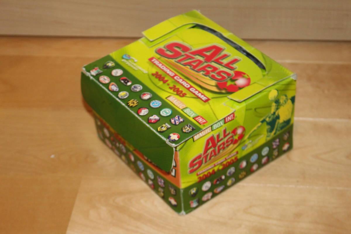 サッカー カード未開封 50枚入り MAGIC BOX INT. ALL STARS TRADING CARD GAME 2004-2005 箱にイタミ有_画像2