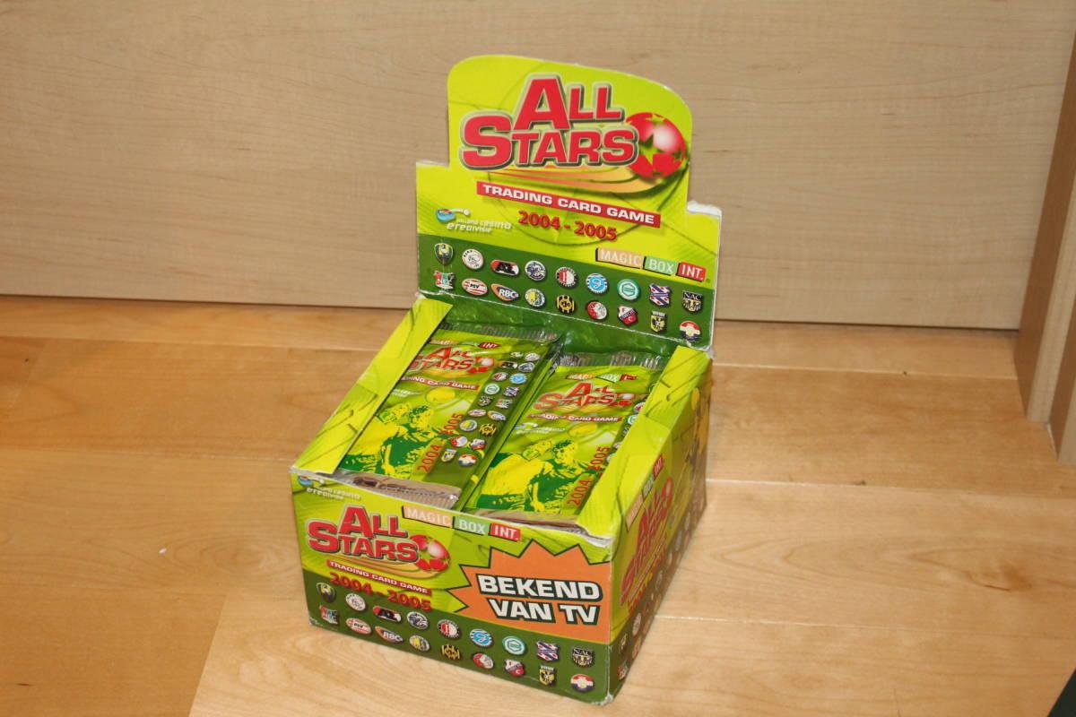 サッカー カード未開封 50枚入り MAGIC BOX INT. ALL STARS TRADING CARD GAME 2004-2005 箱にイタミ有_画像3
