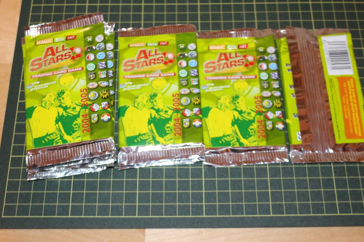 サッカー カード未開封 50枚入り MAGIC BOX INT. ALL STARS TRADING CARD GAME 2004-2005 箱にイタミ有_画像4