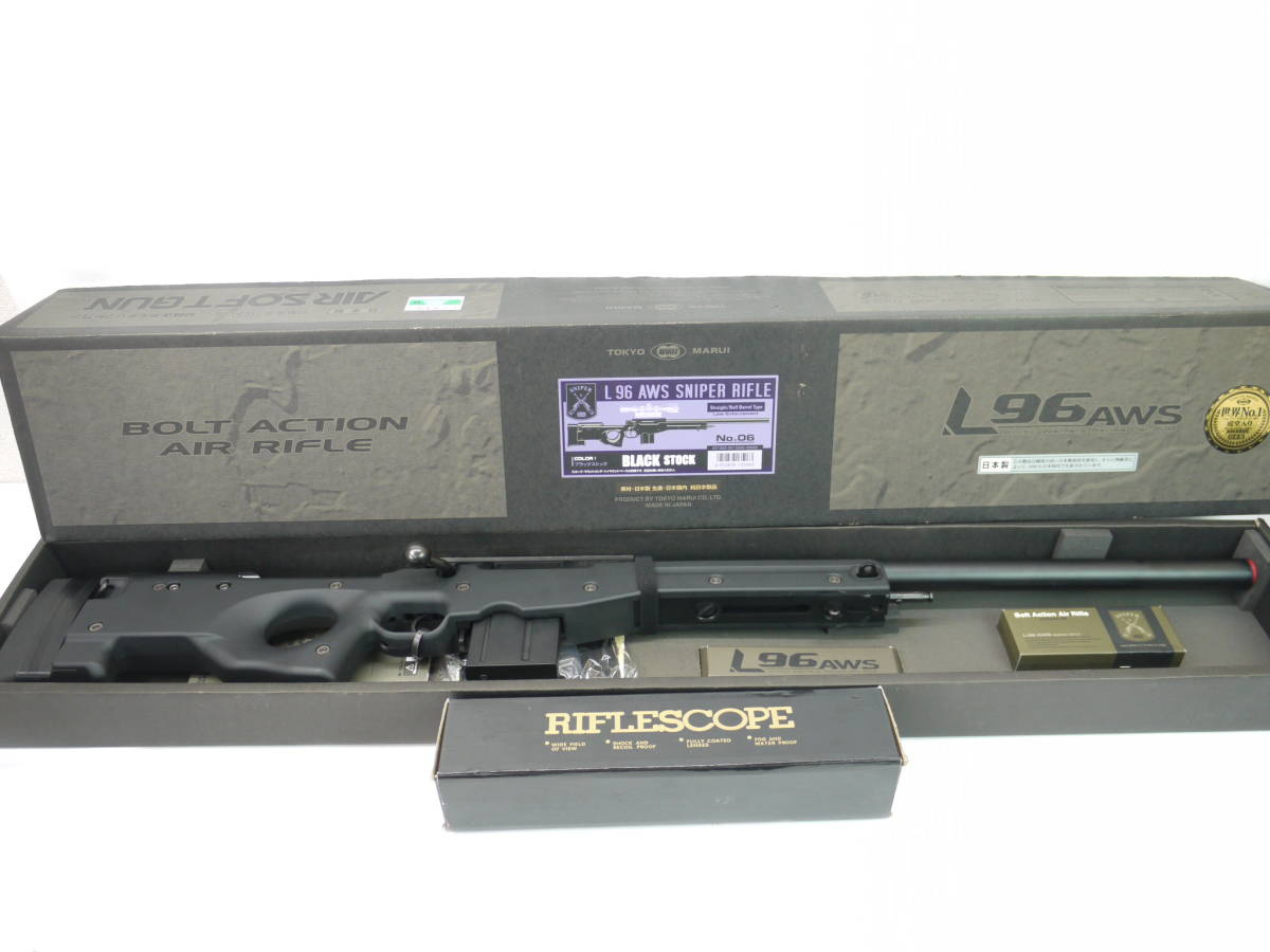 076-0549 東京マルイ No.6 L96AWS ブラック スナイパー ライフル ボルトアクション エアガン スコープ付き