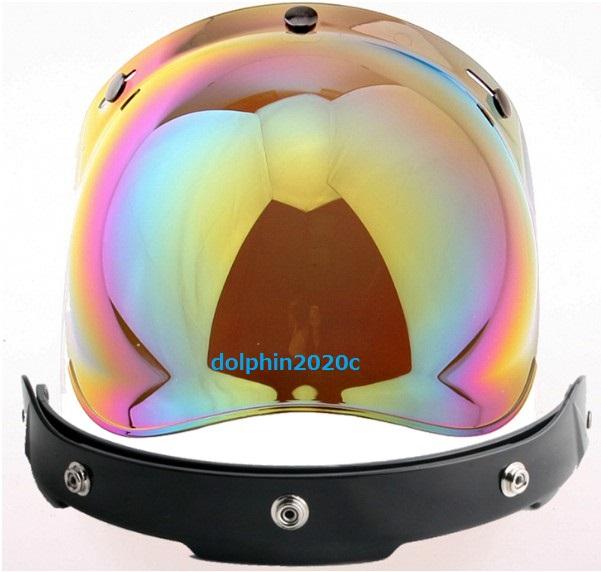 再入荷!バイク ジェットヘルメット ビンテージ バブルシールド ゴーグル マスク バイザー ハーレー アメリカ バイカー ヘルメット YH-XY13_画像4