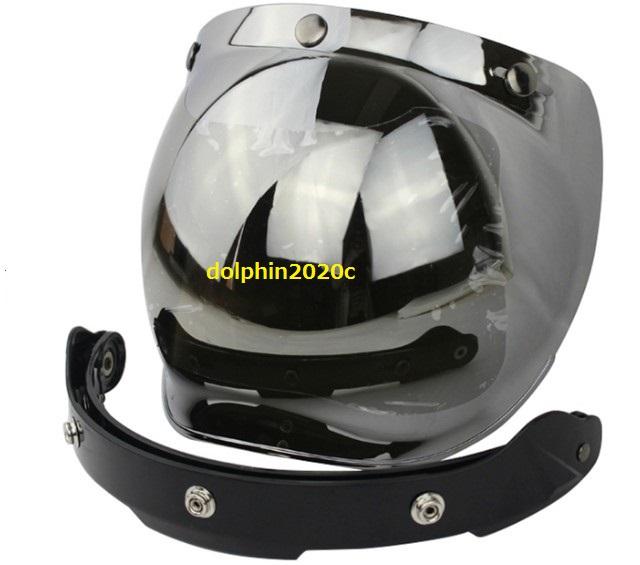 再入荷!バイク ジェットヘルメット ビンテージ バブルシールド ゴーグル マスク バイザー ハーレー アメリカ バイカー ヘルメット YH-XY13_画像3