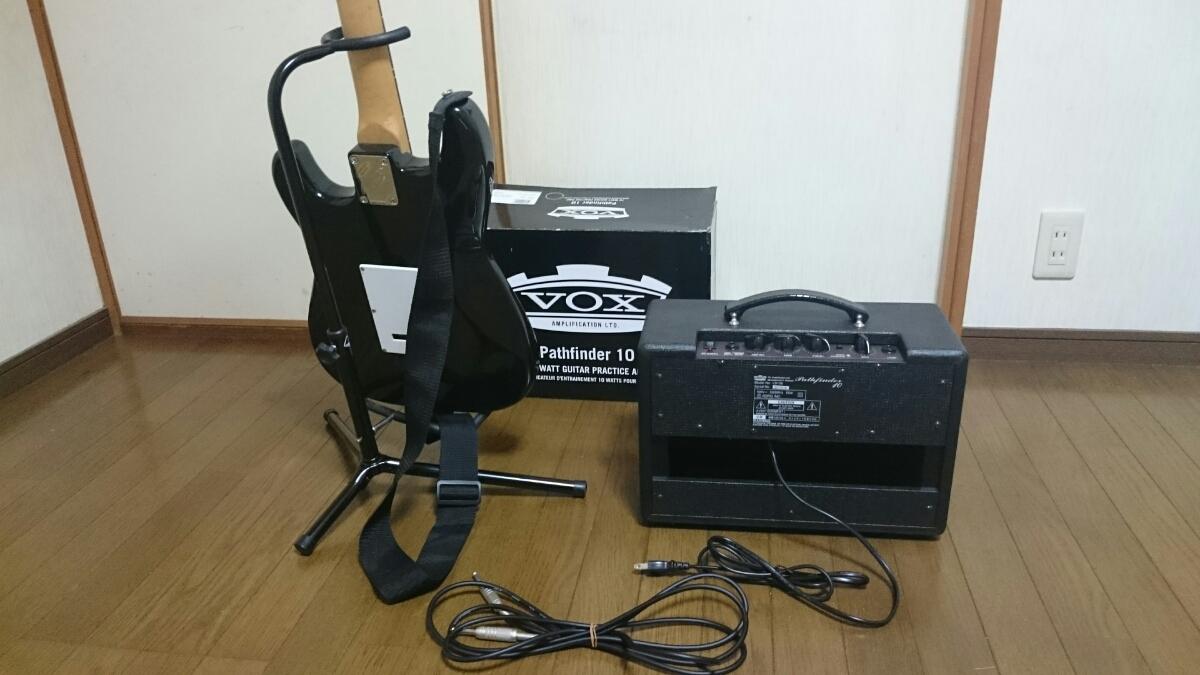 mavis エレキギター スタンド & アンプ セット メイビス BOX ギターコンボアンプ V9106 ベース チューナー_画像6