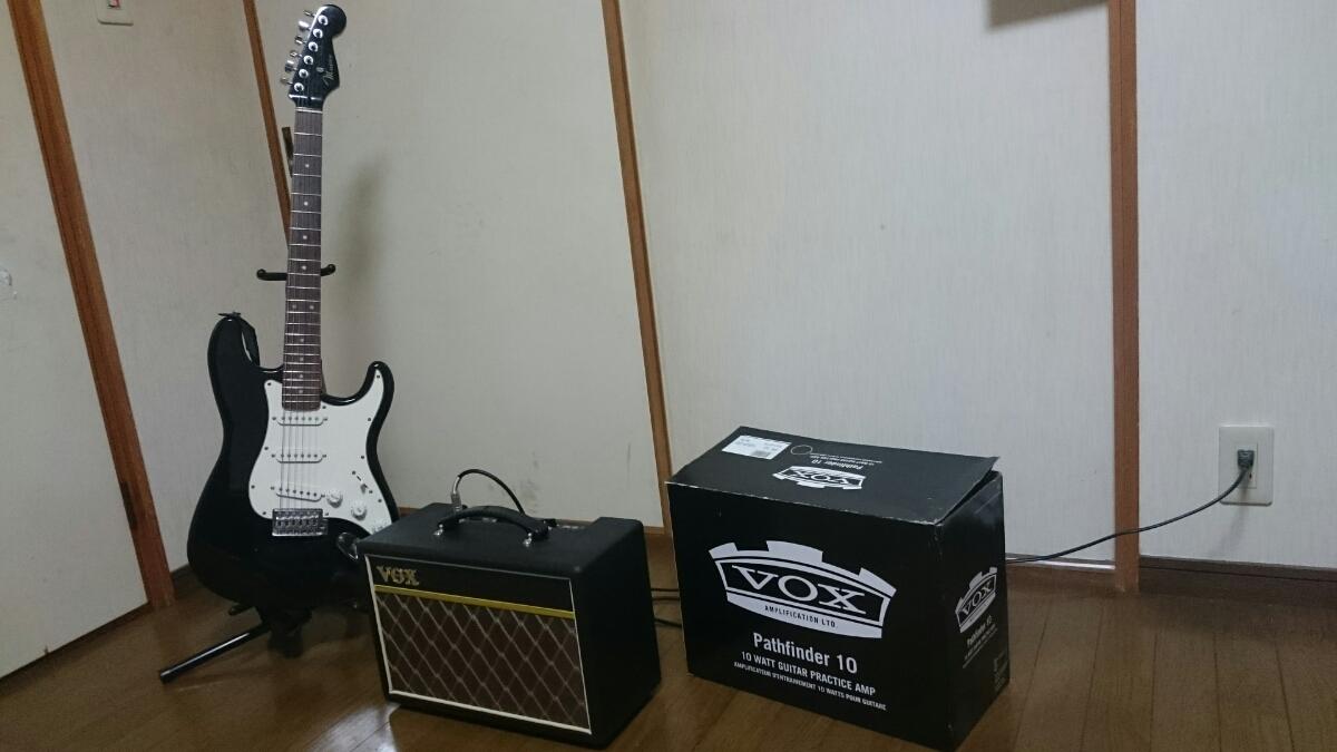 mavis エレキギター スタンド & アンプ セット メイビス BOX ギターコンボアンプ V9106 ベース チューナー_画像1