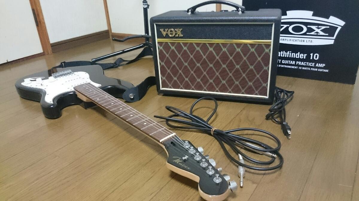 mavis エレキギター スタンド & アンプ セット メイビス BOX ギターコンボアンプ V9106 ベース チューナー_画像9
