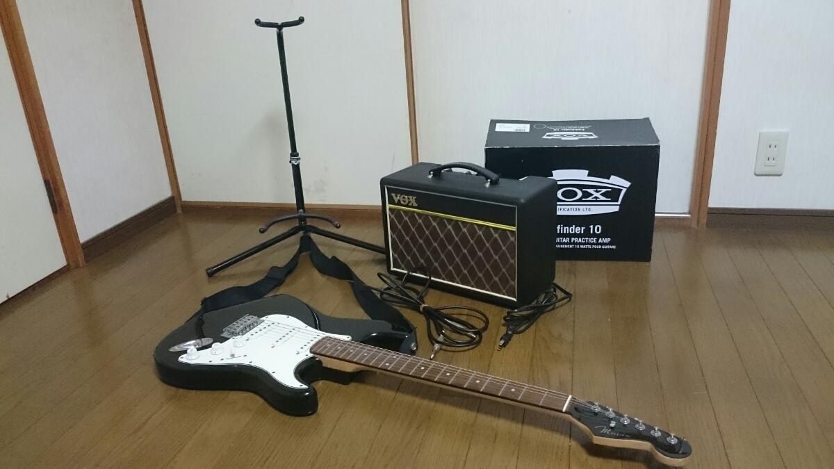 mavis エレキギター スタンド & アンプ セット メイビス BOX ギターコンボアンプ V9106 ベース チューナー_画像8