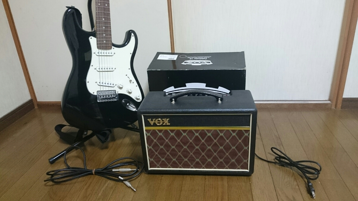 mavis エレキギター スタンド & アンプ セット メイビス BOX ギターコンボアンプ V9106 ベース チューナー_画像3