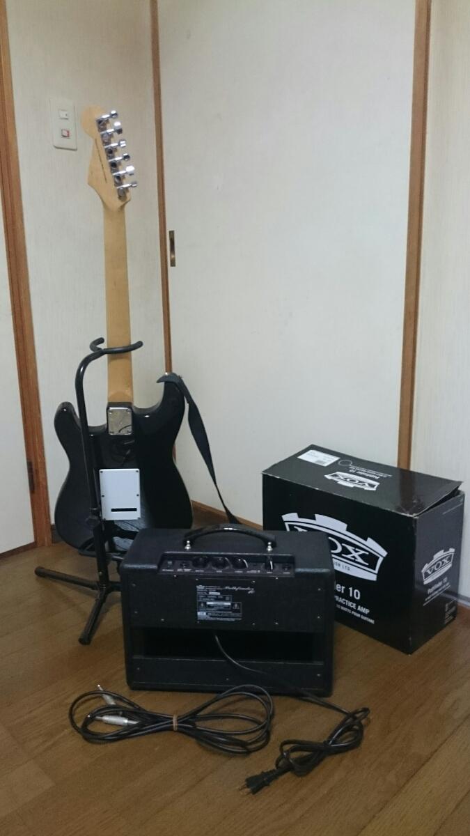 mavis エレキギター スタンド & アンプ セット メイビス BOX ギターコンボアンプ V9106 ベース チューナー_画像7