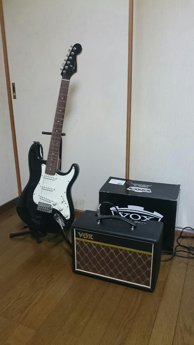 mavis エレキギター スタンド & アンプ セット メイビス BOX ギターコンボアンプ V9106 ベース チューナー_画像2