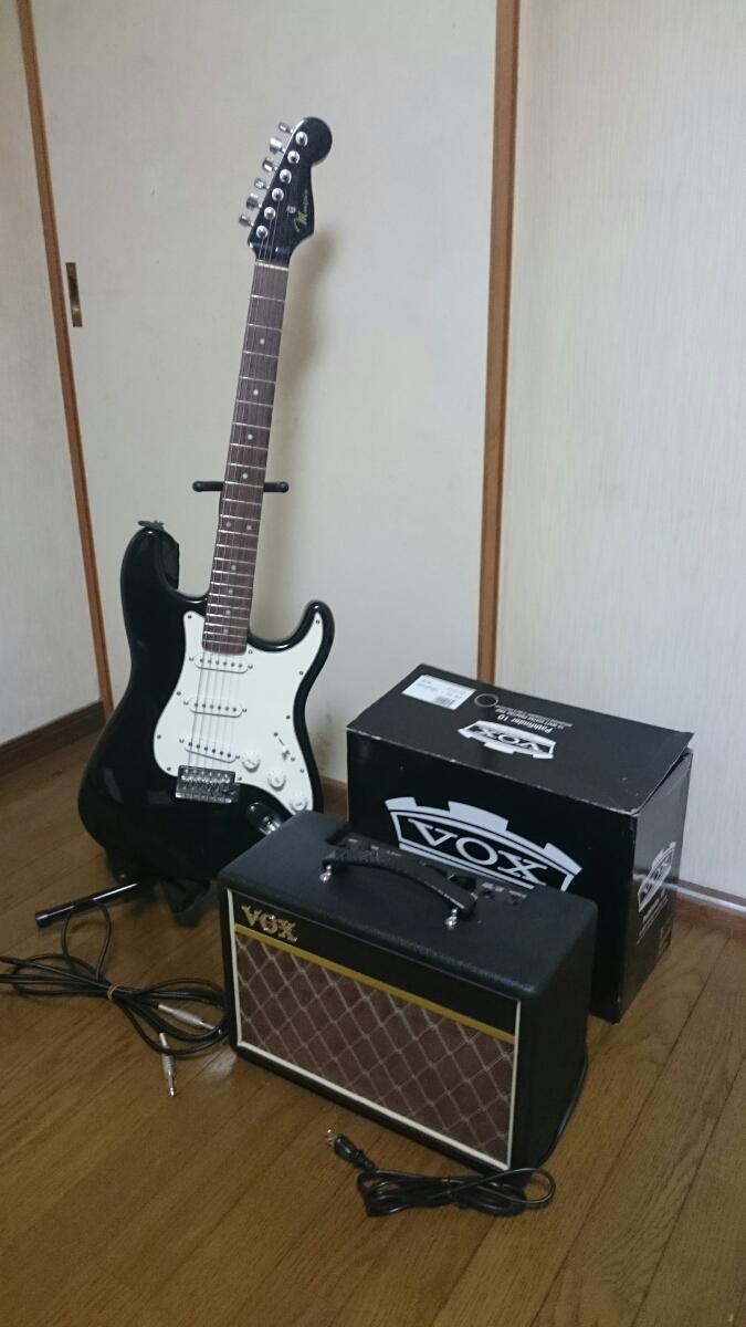 mavis エレキギター スタンド & アンプ セット メイビス BOX ギターコンボアンプ V9106 ベース チューナー_画像4