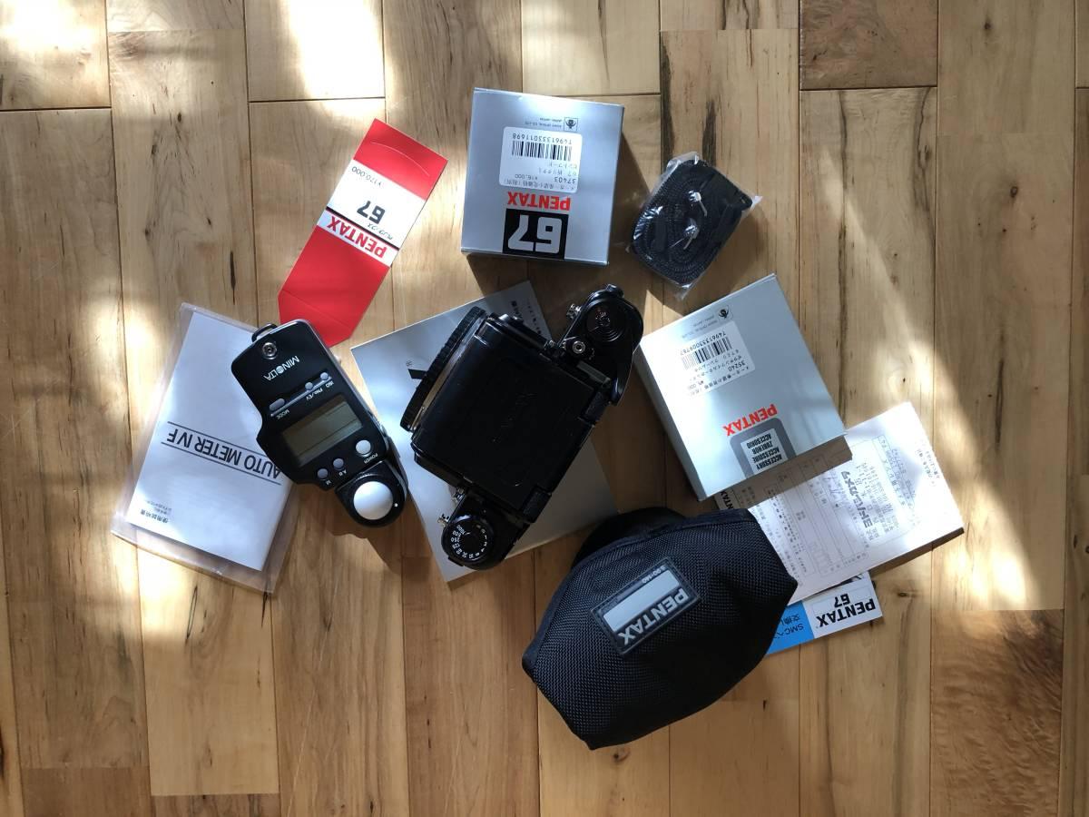 【中古】極美品 PENTAX ペンタックス 67 中判フィルムカメラ & レンズSMC PENTAX67 マクロ135mmF4_画像6