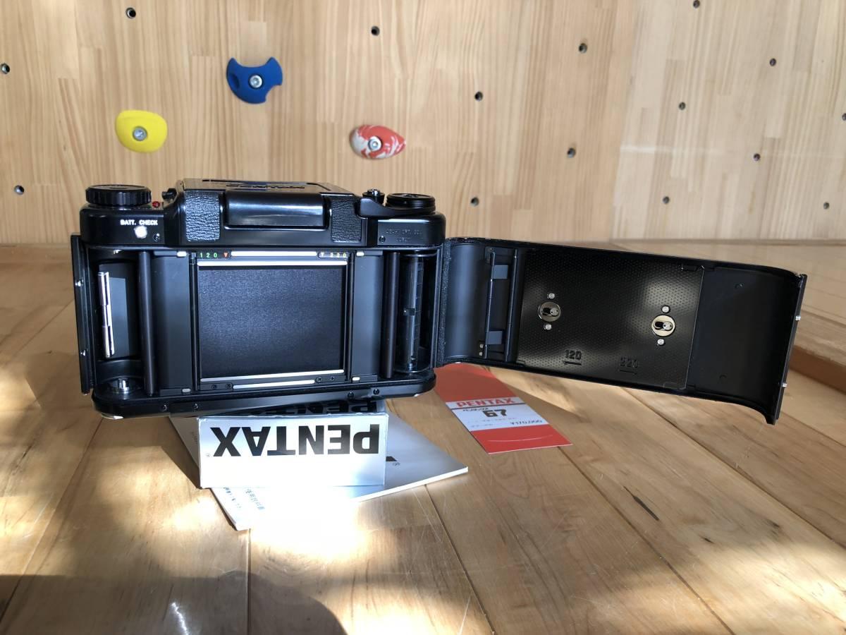 【中古】極美品 PENTAX ペンタックス 67 中判フィルムカメラ & レンズSMC PENTAX67 マクロ135mmF4_画像4