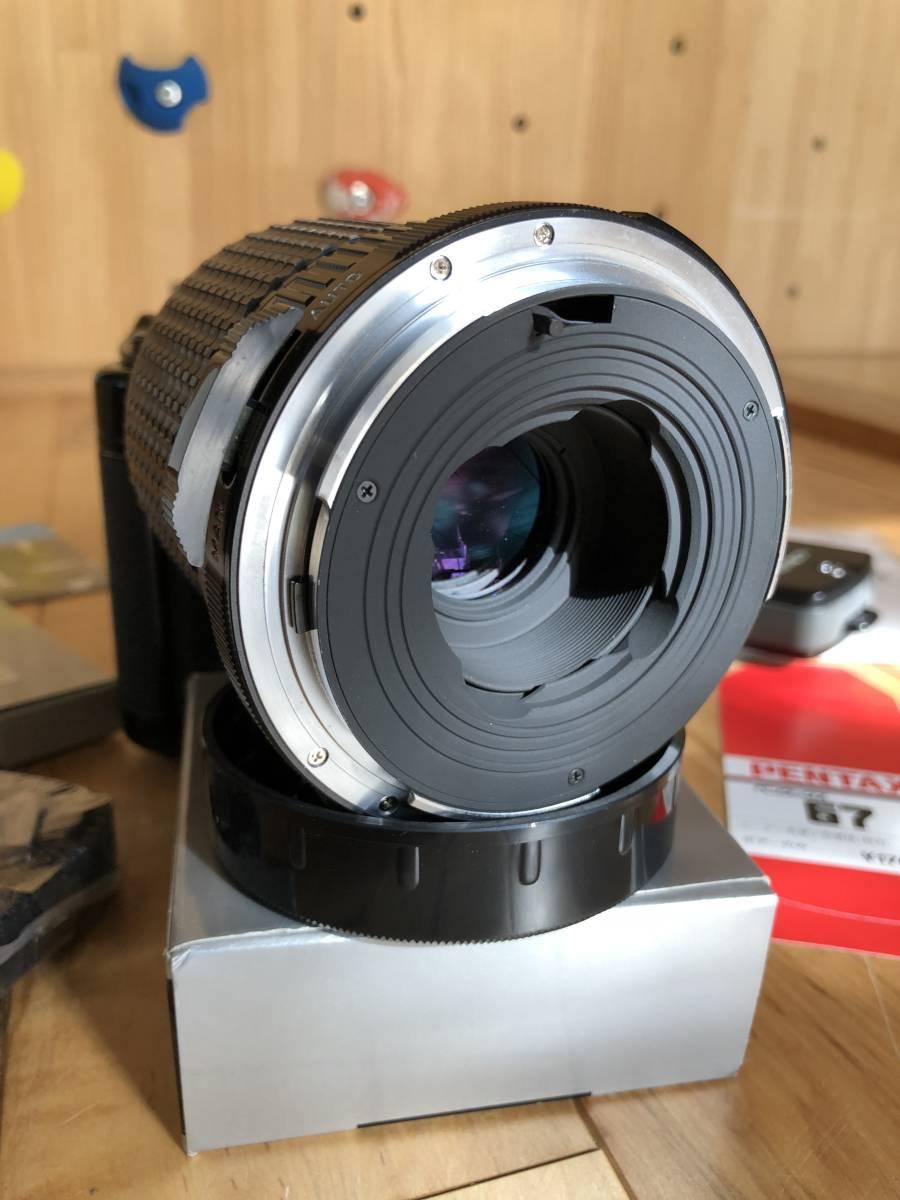 【中古】極美品 PENTAX ペンタックス 67 中判フィルムカメラ & レンズSMC PENTAX67 マクロ135mmF4_画像9
