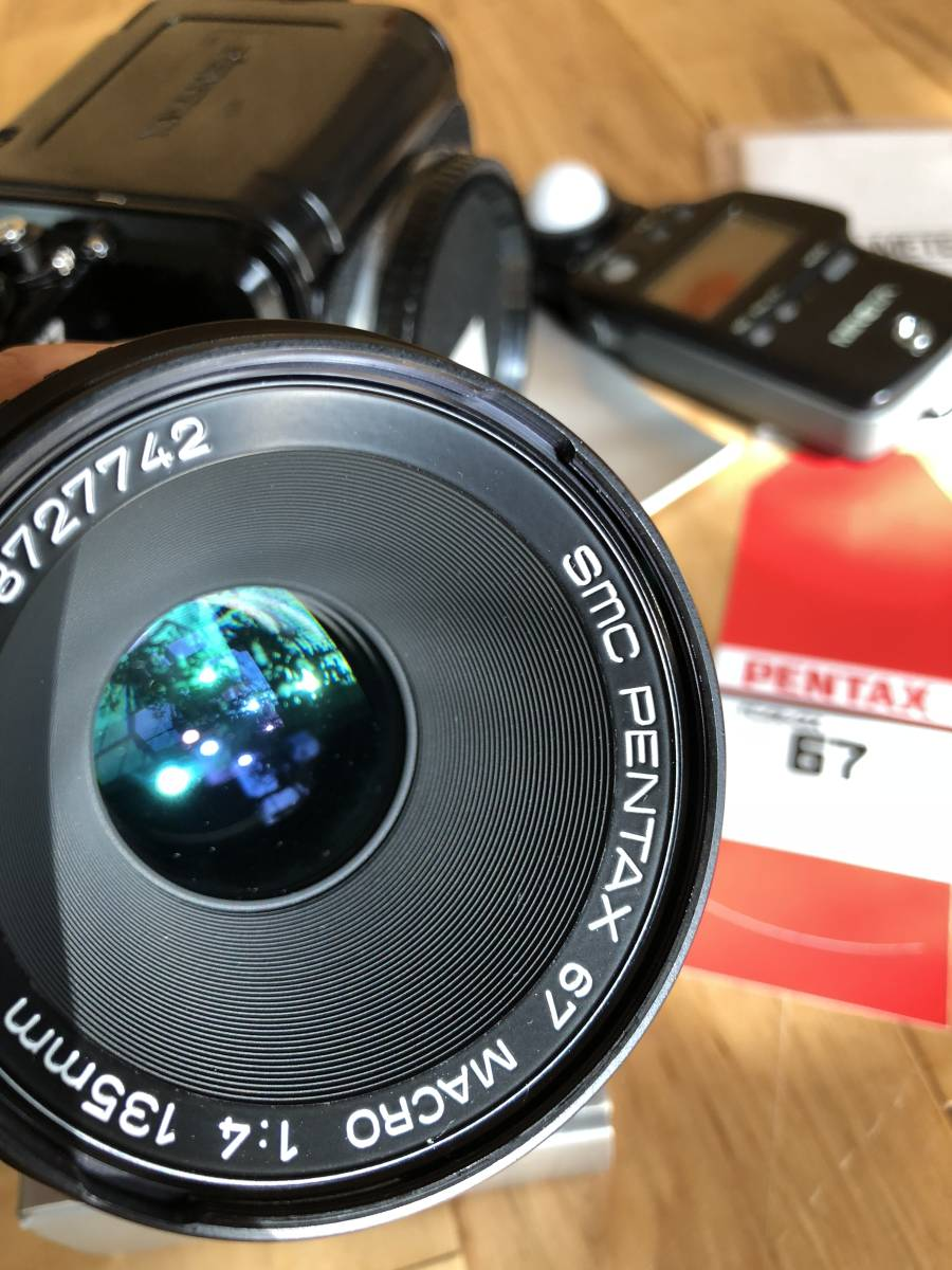 【中古】極美品 PENTAX ペンタックス 67 中判フィルムカメラ & レンズSMC PENTAX67 マクロ135mmF4_画像8