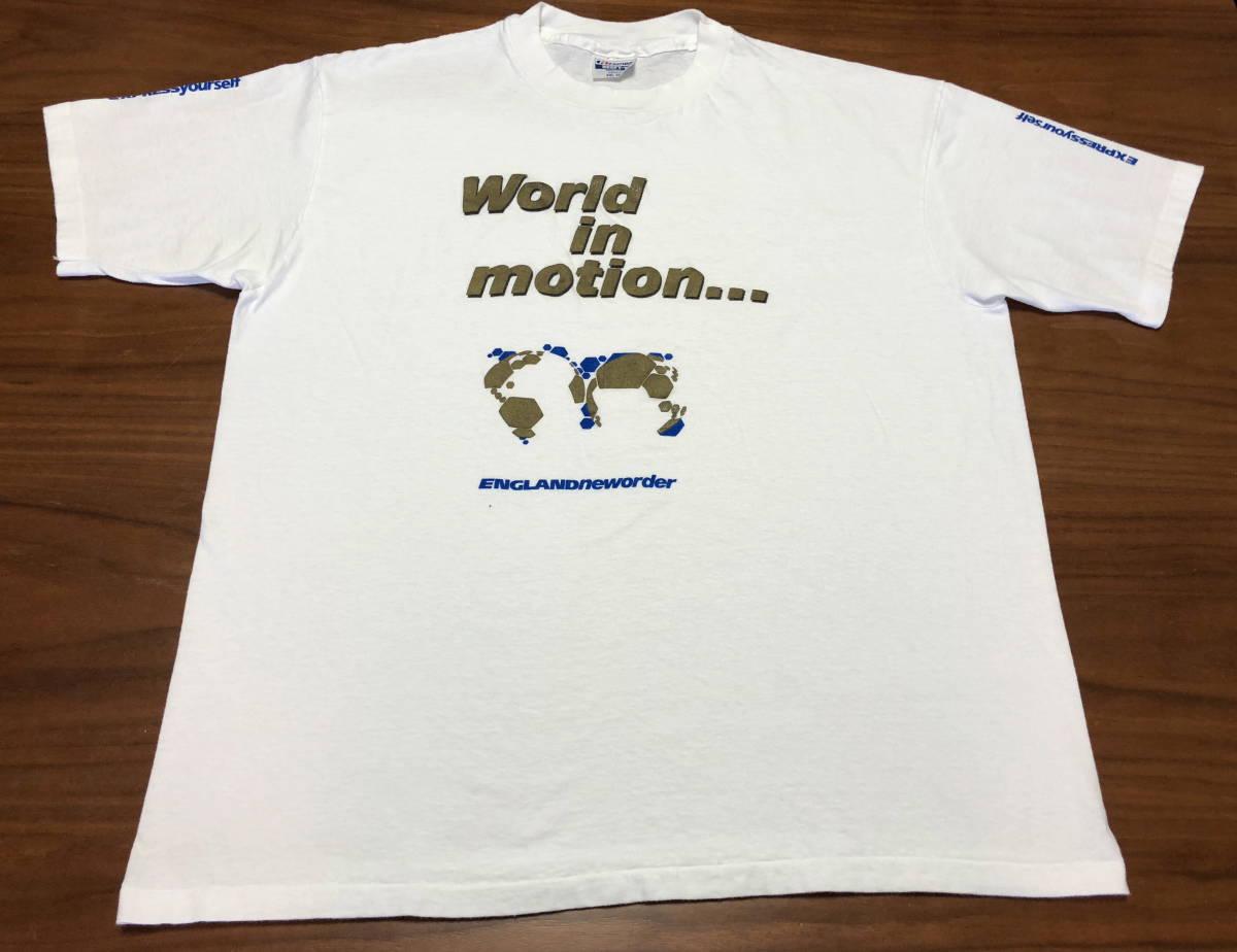 90s ビンテージ NEW ORDER プロモ Tシャツ XXLサイズ 90年代 ヴィンテージ ニューオーダー バンドT ラフシモンズ NIRVANA SONIC YOUTH RAF_画像1