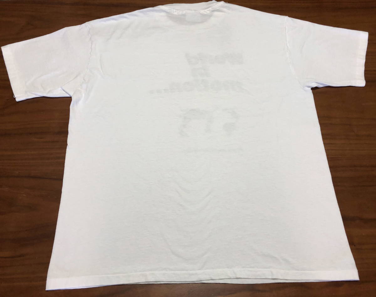 90s ビンテージ NEW ORDER プロモ Tシャツ XXLサイズ 90年代 ヴィンテージ ニューオーダー バンドT ラフシモンズ NIRVANA SONIC YOUTH RAF_画像4