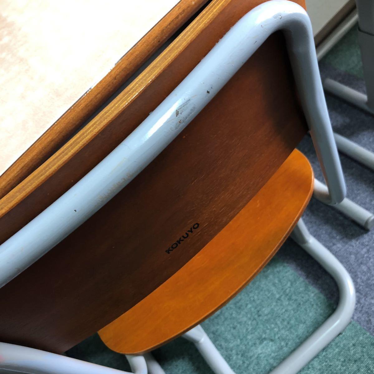 学習塾、学校用学習机と椅子 2組_画像7