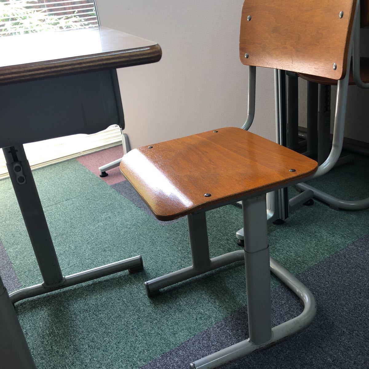 学習塾、学校用学習机と椅子 2組_画像2