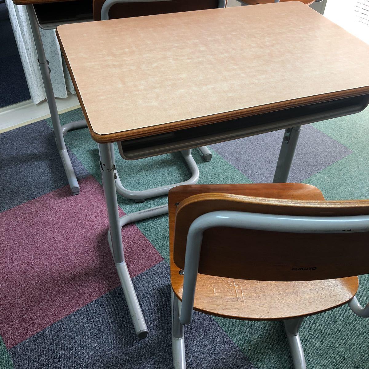 学習塾、学校用学習机と椅子 2組_画像4