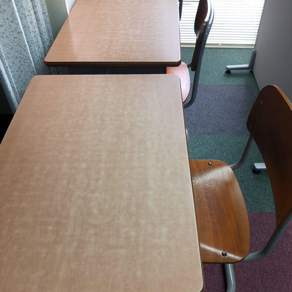 学習塾、学校用学習机と椅子 2組_画像9