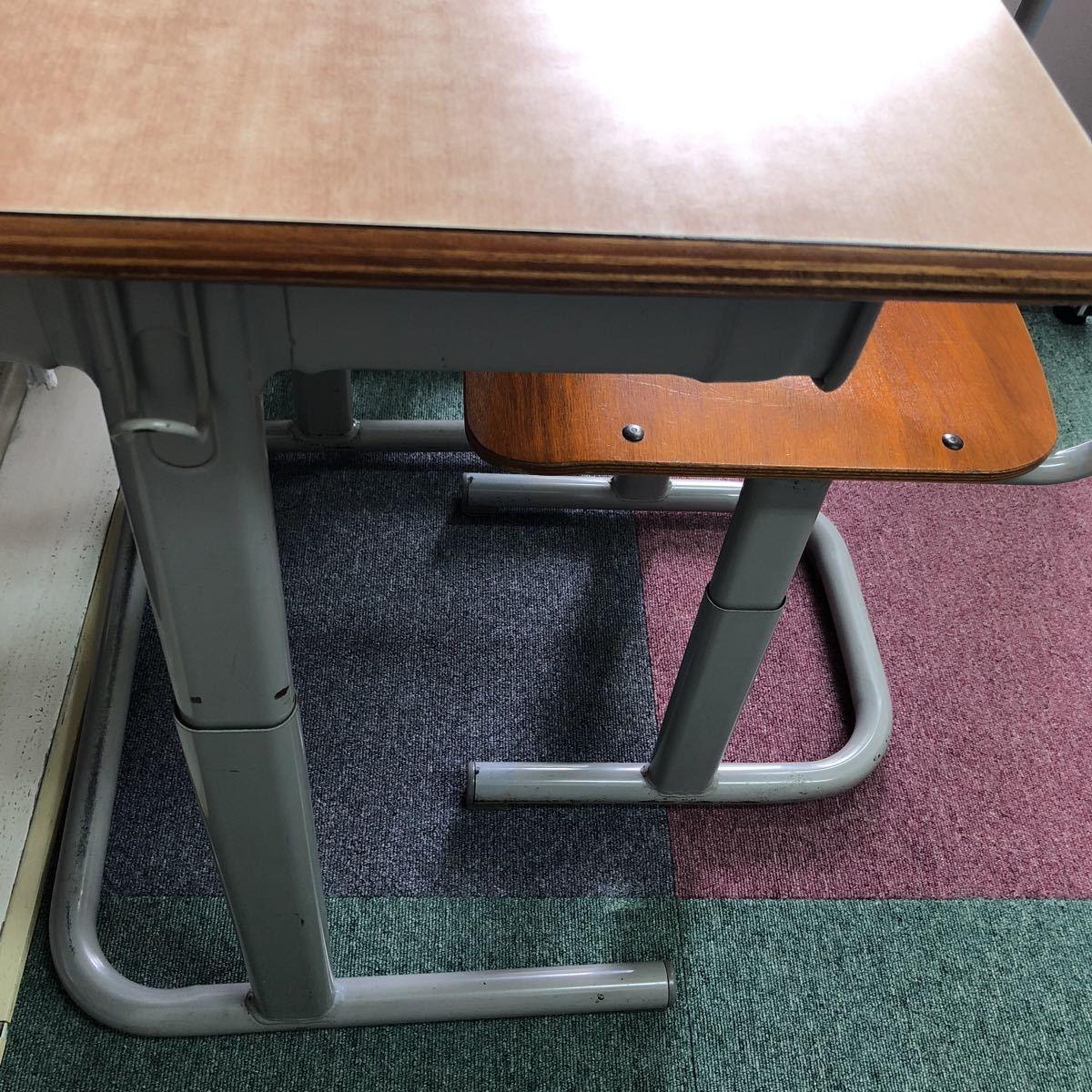 学習塾、学校用学習机と椅子 2組_画像8